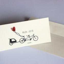 zaproszenie ślubne na eko papierze