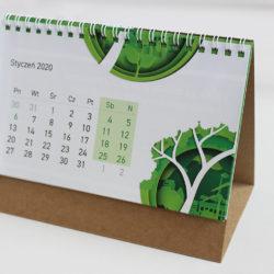 kalendarz biurkowy ekologiczny na spirali drukarnia w zielonej górze