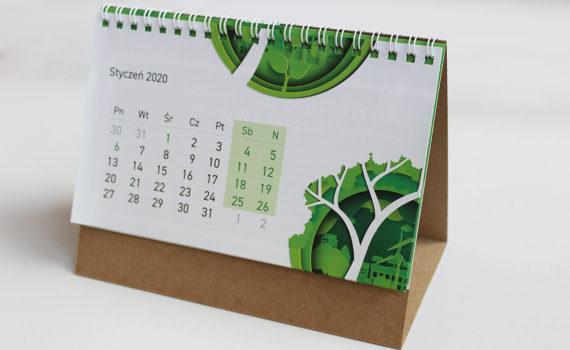 kalendarz biurkowy ekologiczny na spirali