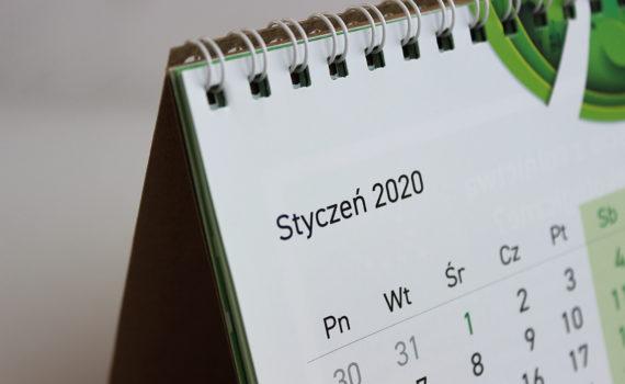 eko biurkowy kalendarz