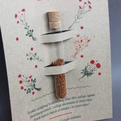 ulotka z papieru recyklingowego nietypowa oryginalna