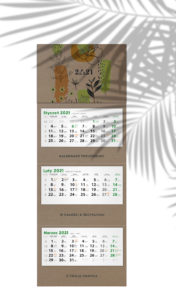 kalendarz ścienny ekologiczny